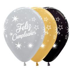 Globo Sempertex Infinity Feliz Cumpleaños Surtido Deluxe