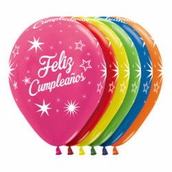 Globo Sempertex Infinity Feliz Cumpleaños Destellos Surtido