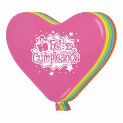 Globo Sempertex Infinity Feliz Cumpleaños Corazón Regalos Surtido