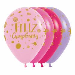 Globo Sempertex Infinity Feliz Cumpleaños Fiesta Destellos Surtido