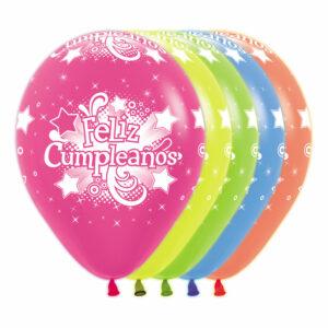 Globo Sempertex Infinity Feliz Cumpleaños Neón Surtido