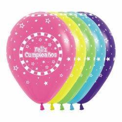 Globo Sempertex Infinity Feliz Cumpleaños Rayas Surtido