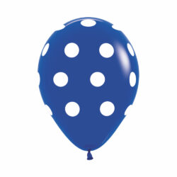 Globo Sempertex Infinity Polka Dots Azul Rey