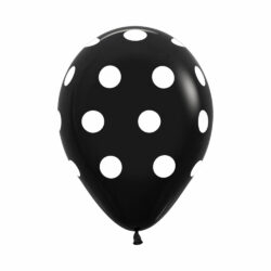 Globo Sempertex Infinity Polka Dots Negro